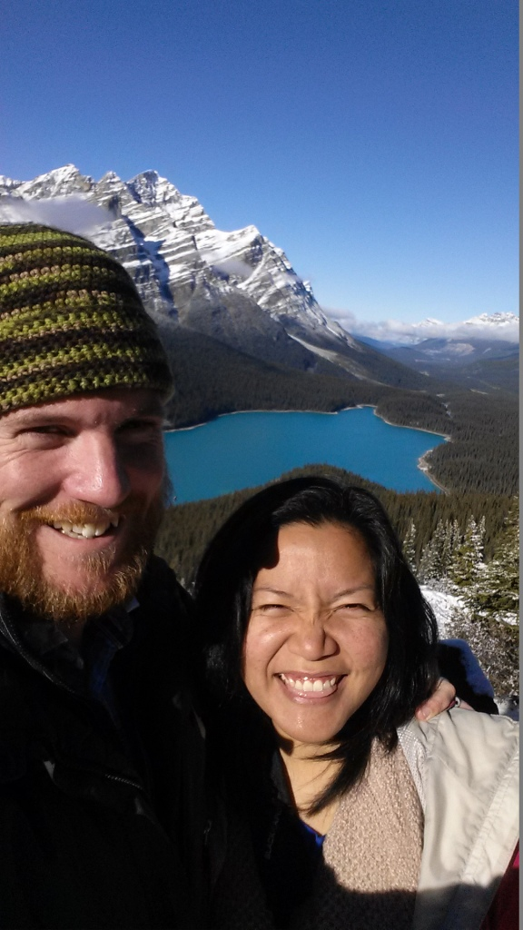 Me and Sandy at Bow Summit, Jasper