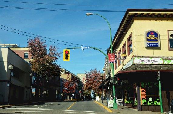 empty Nanaimo street