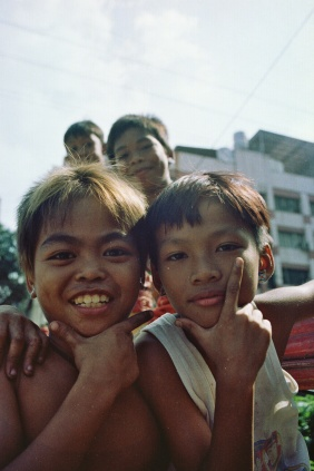 Kids love cameras in the Philippines